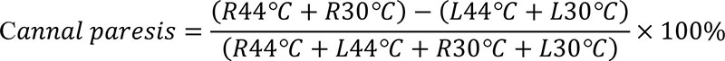 formula canal paresis