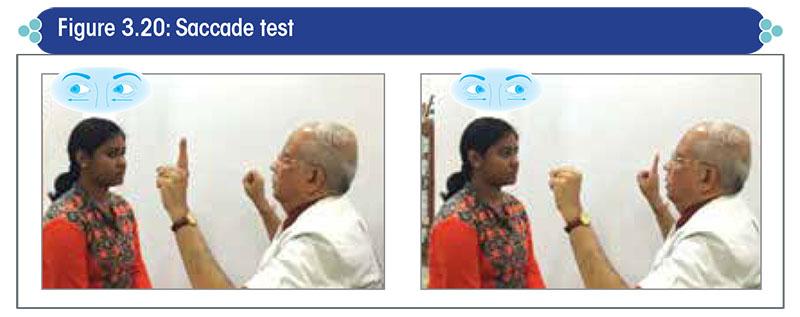 Saccade test
